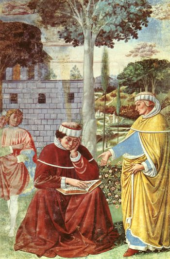 Gozzoli 10 Augustine is reading St Paul / Augustinus leest Paulus